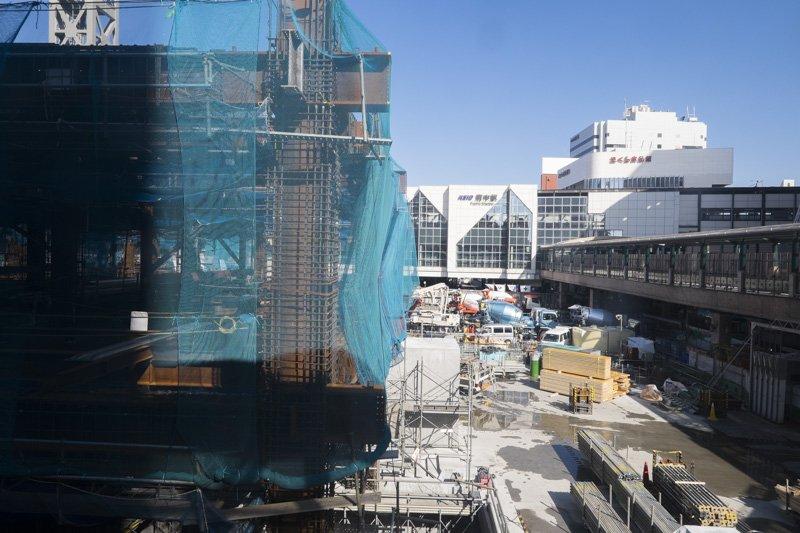 府中駅南口第一地区再開発事業の工事現場