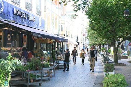洗練された店が立ち並ぶ「九品仏川緑道」