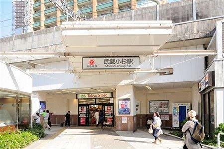 「武蔵小杉」駅は、JR南武線・横須賀線、東急東横線・目黒線が乗り入れている