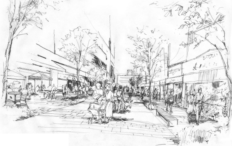 「柏」駅東口の歩行者回遊の軸となる「ハウディモール」イメージ案