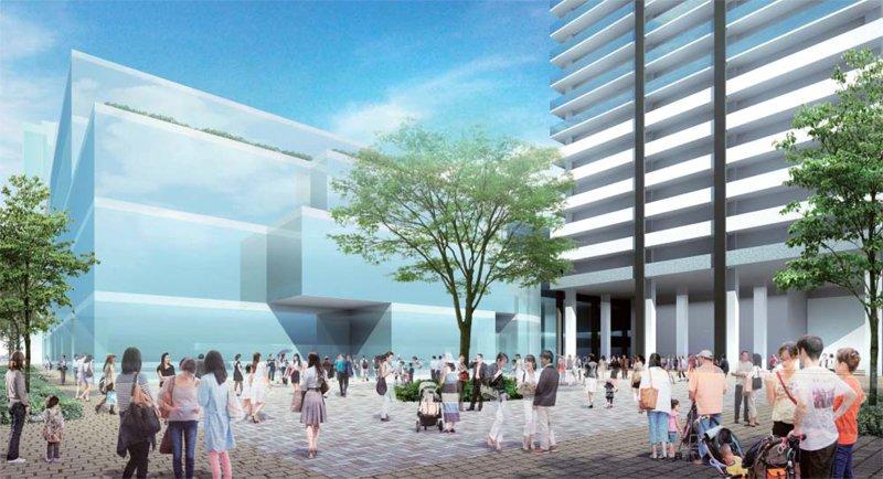 「(仮称)亀戸六丁目計画」で整備される広場 出典:江東区資料(PDF)
