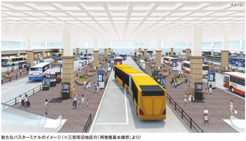 新たなバスターミナルのイメージ