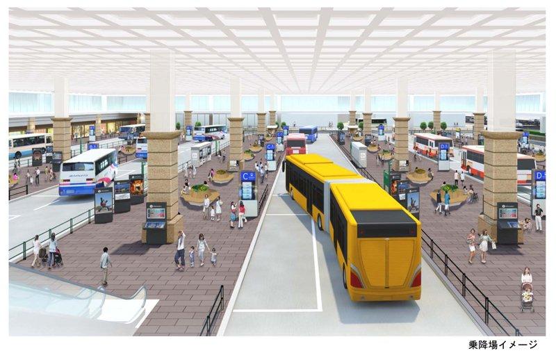 バスターミナルの整備イメージ