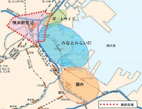 計画検討区域(出典:「エキサイト横浜22」)