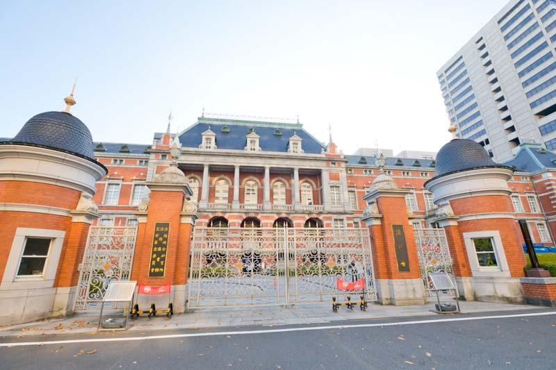 霞ヶ関の省庁街(法務省の赤レンガ棟)
