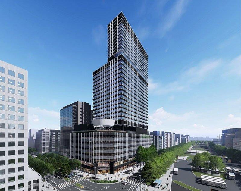 中部日本ビルディング完成イメージ図(出典:中日ビル建て替えの基本計画について)
