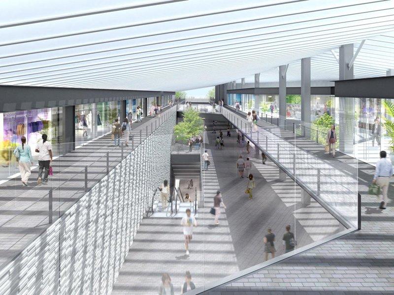 「下北沢」駅の完成イメージ