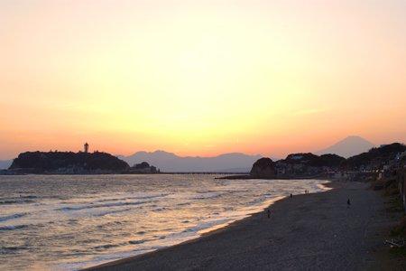 江の島夕日